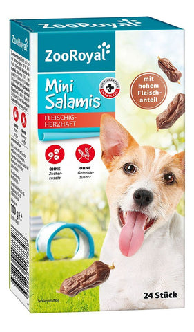 ZooRoyal Dog Mini Salamis (24 Pcs) Dog Treats Zooroyal