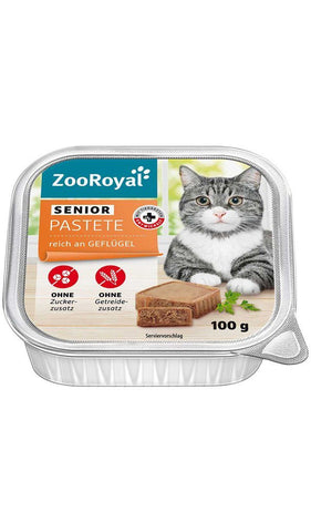 ZooRoyal Pâté Senior rich in poultry Wet Cat Food Trixie