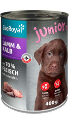 ZooRoyal Veal & Lamb Junior Wet Food Can 400g Wet Dog Food Zooroyal