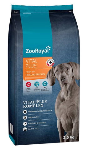 ZooRoyal Vital Plus dry food 2.5 Kg Dry Dog Food Zooroyal
