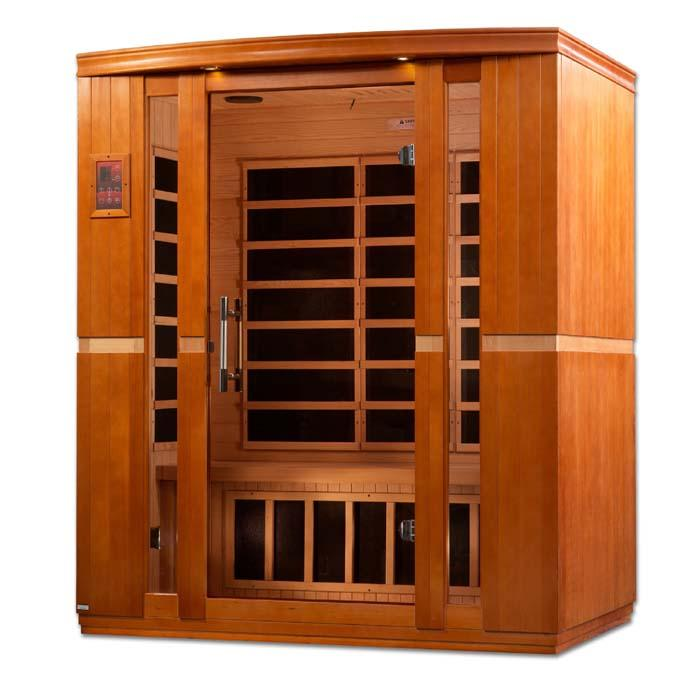 "Dynamic ""Bellagio"" 3-person Low EMF Far Infrared Sauna"