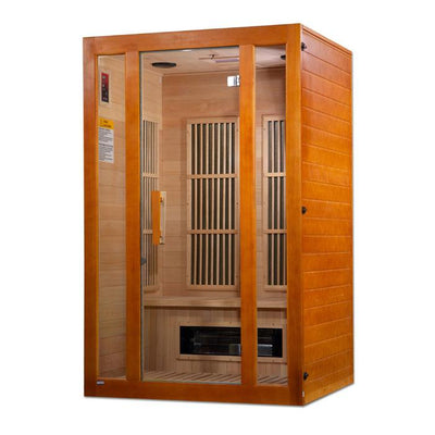 "Maxxus ""Aspen"" Dual Tech 2 person Low EMF FAR Infrared Sauna Canadian Hemlock"