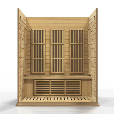 MX-K306-01 Maxxus 3 Per Low EMF FAR Infrared Carbon Canadian Hemlock Sauna Natural