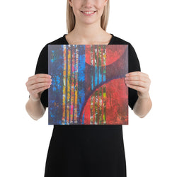 Multicolored Abstract Canvas Wall Painting