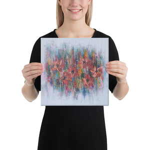 Multicolor canvas art abstract painting handmade for wall decor