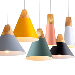 LED Pendant Modern Colorful Hang Lamp for Restaurant Kitchen Coffee Bedroom