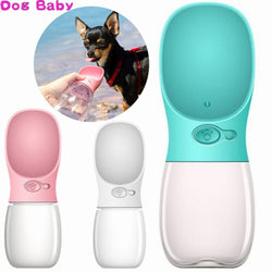 Portable Pet Dog Water Bottle Squeeze Dispenser Feeder