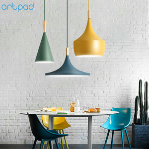 Modern Wood Pendant Lampshade  LED Hanging Lamp for Dining Room Hotel Bedroom Kitchen
