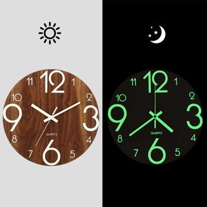 12 Inch Luminous Wall Clock Silent Glow In Dark For Home Living Room