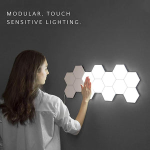 Touch sensitive magnetic hexagons creative decoration wall lamp