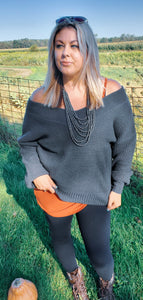 Sweetheart Sweater - Charcoal
