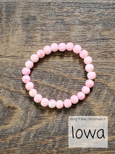 Love One Another - Pink Stone Bracelet