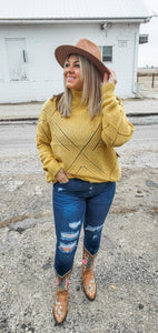 Cozy Up Sweater - Mustard