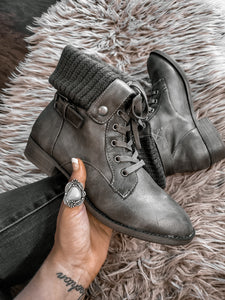 Chandra Fold Over Combat Boots