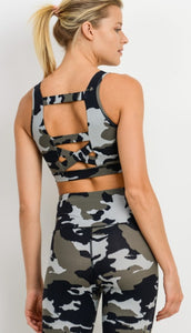 Jungle Camo Sports Bra