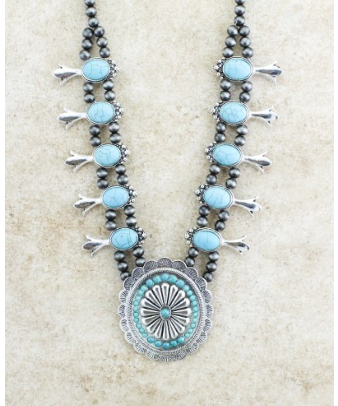 Concho Cutie Turquoise Necklace