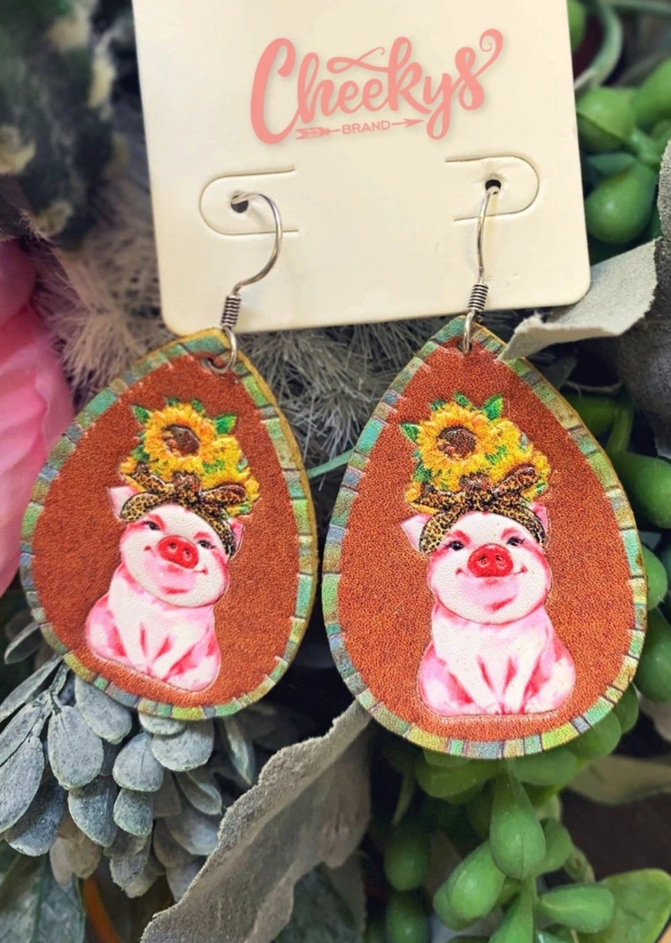 All That Sass Pig Earrings