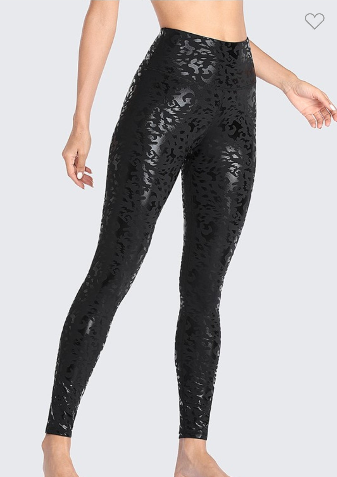 Black Leopard Liquid Yoga Leggings - Rawr
