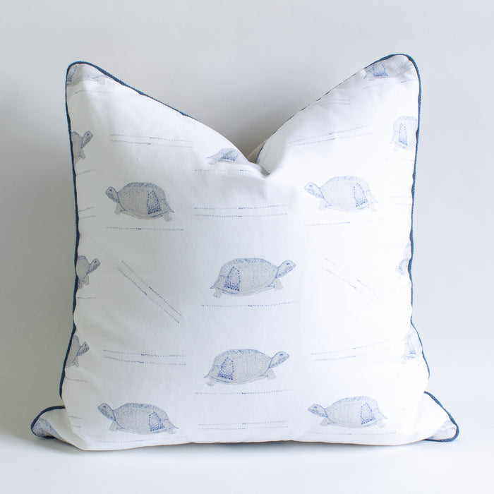 Textiles by Smith Blue Turtle Pillow
