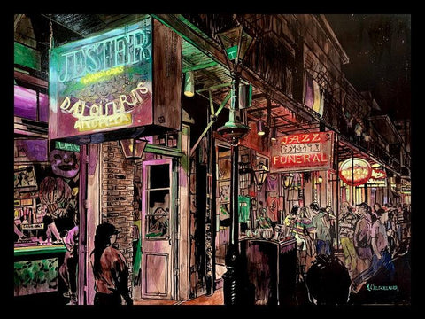"""Lundi Gras On Bourbon"" by Keith Oelschlager"