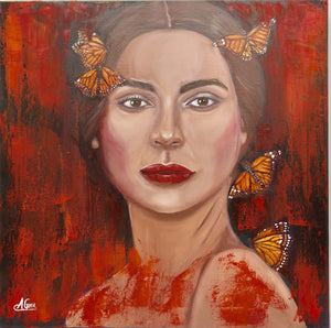 """Red Monarch Girl"" Original"