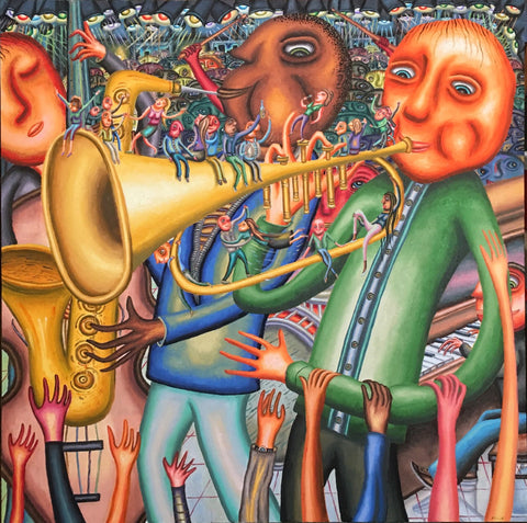 """The Crowded Trumpet Band"""