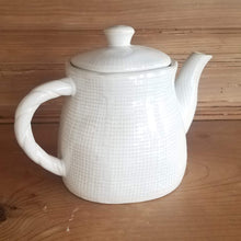 Load image into Gallery viewer, White Teapot (burlap textured)