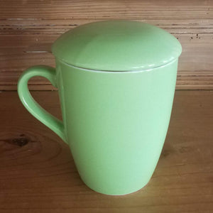 Porcelain Mug with Infuser and Lid