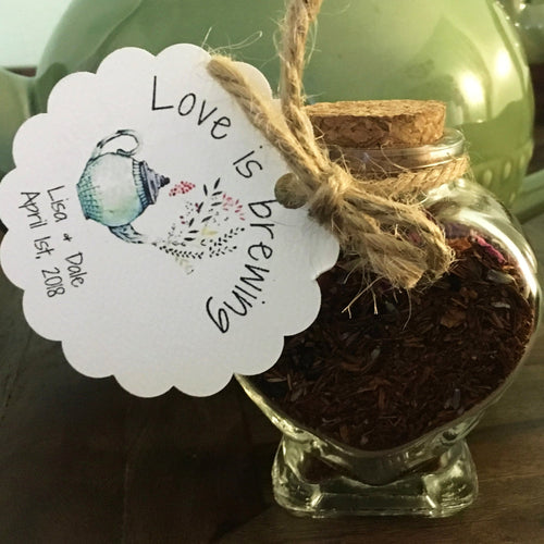 Heart-shaped Jar w/Cork Lid