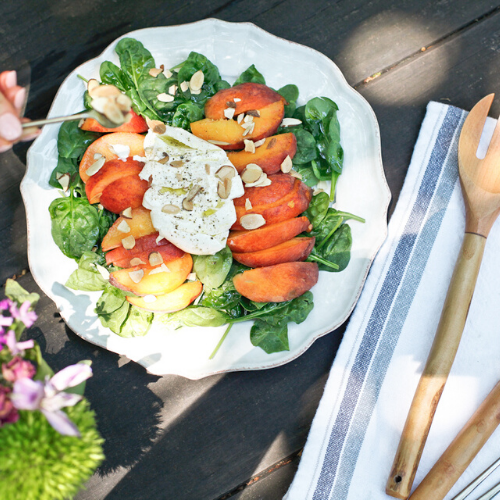 Peach And Burrata Salad Recipe