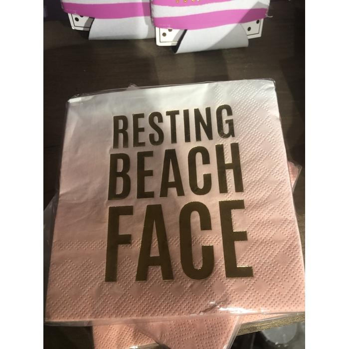 Beverage Napkin Resting Beach Face
