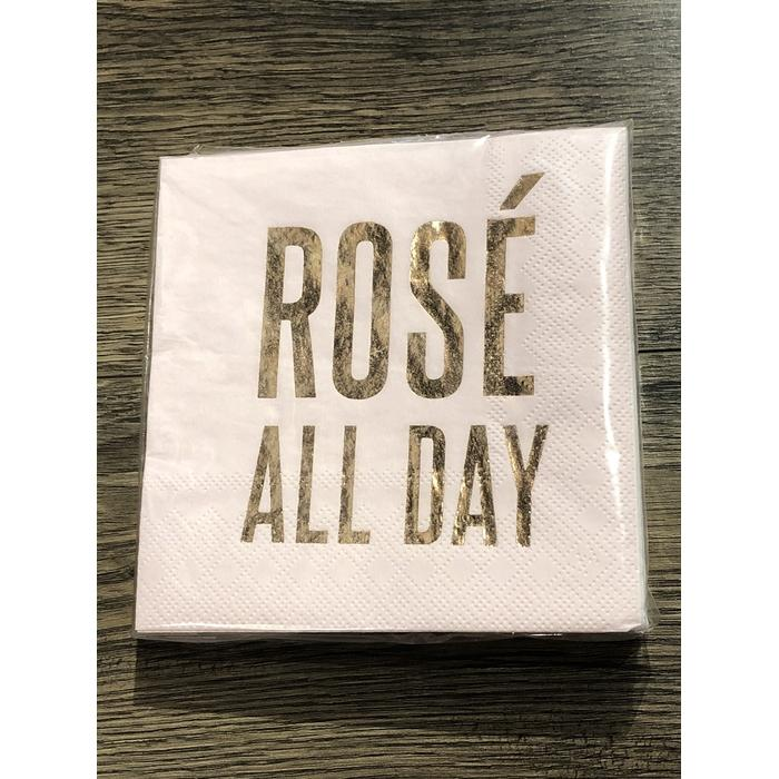 Beverage Napkin--Rose'