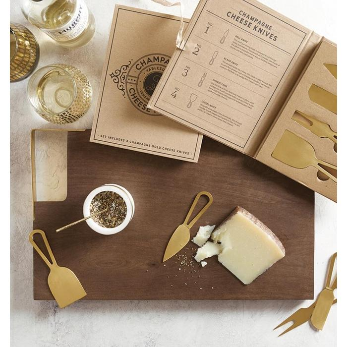 Champagne Gold Cheese Knives