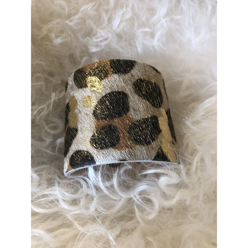 Cheetah  Print Hide Cuff