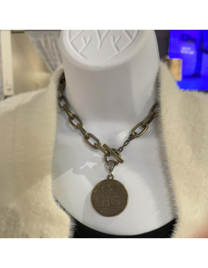 Crown Swiss Franc Necklace