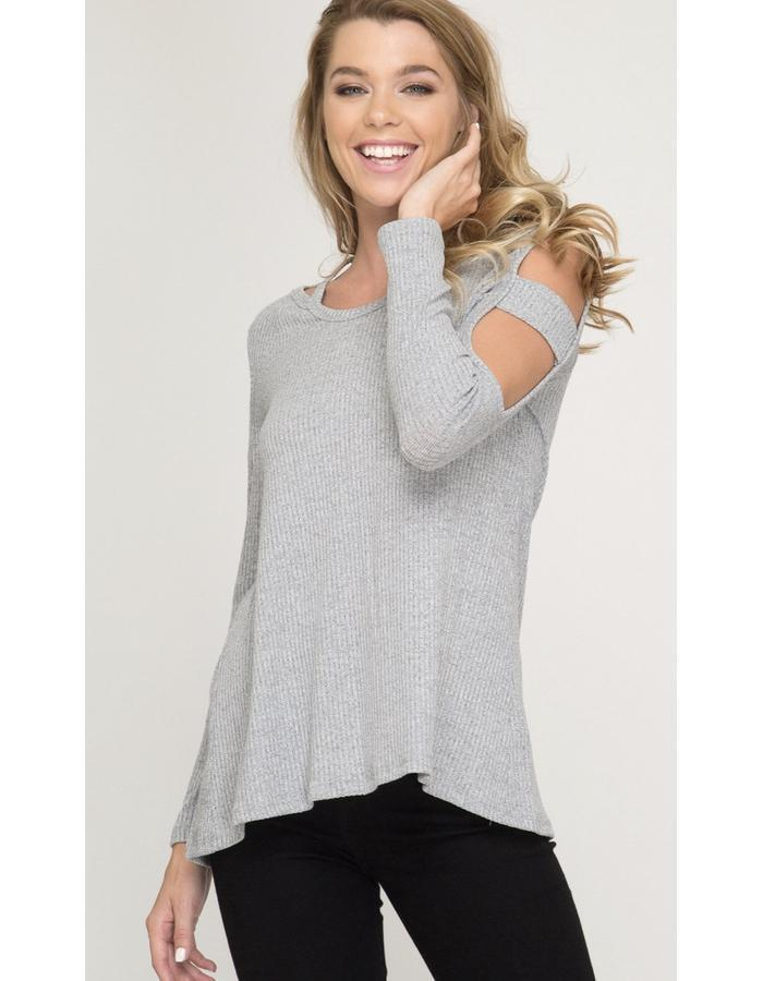 Cut Out Top with Sleeve Detail