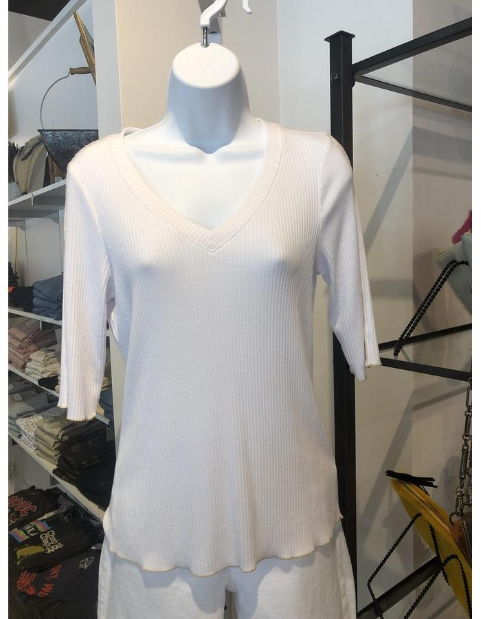 Cut Out V Neck Top Small