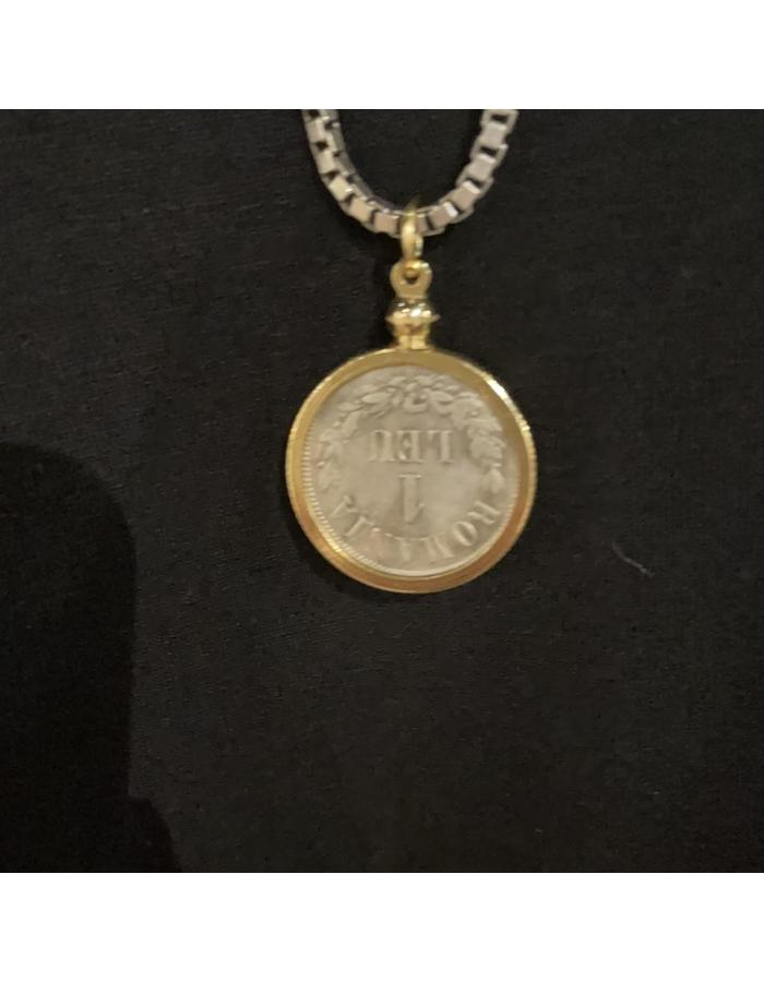 French Empire Coin on Box Chain