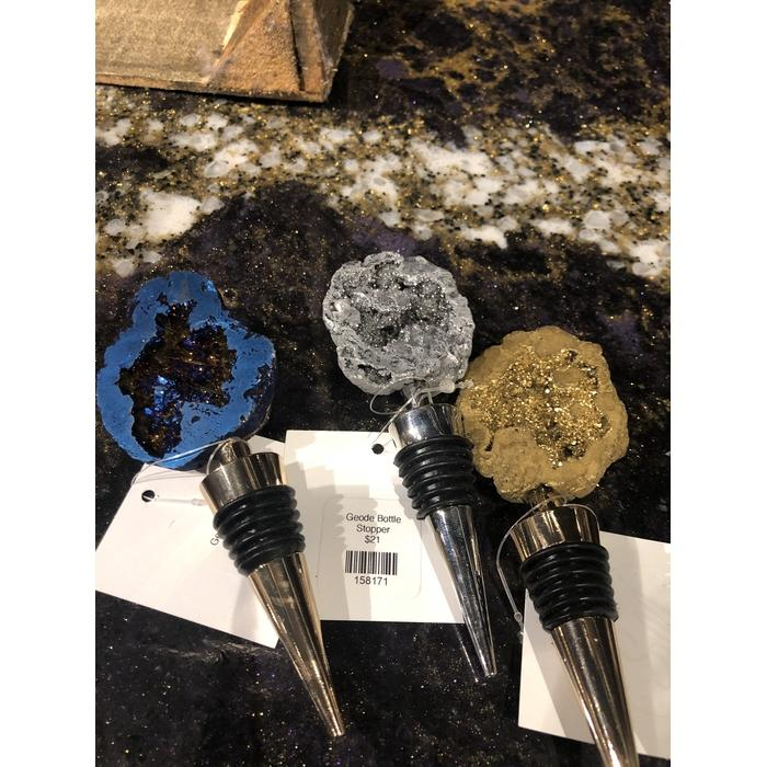 Geode Wine Bottle Stoppers