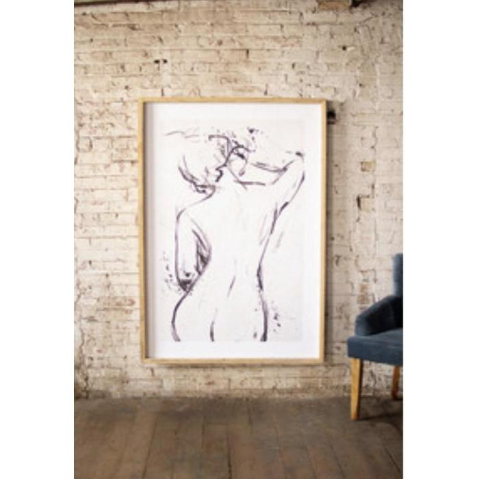 Large Framed Nude Print