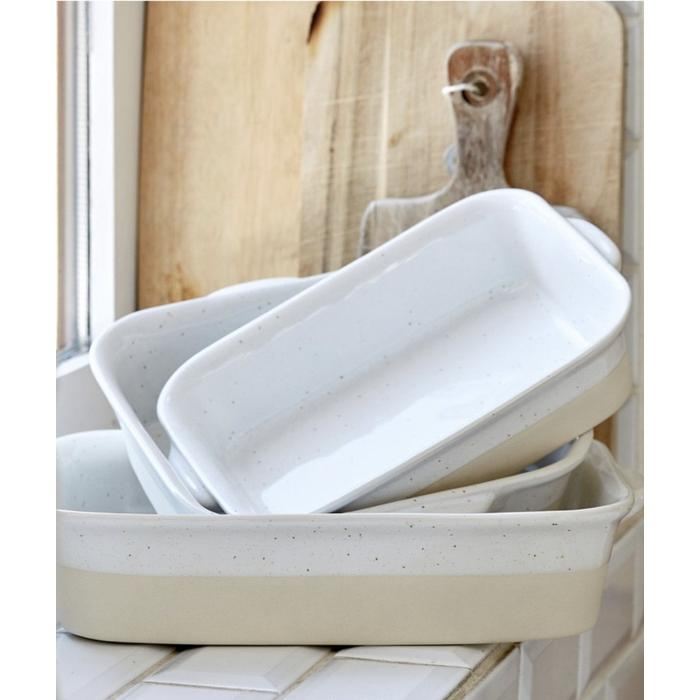Large Rectangular Baker White