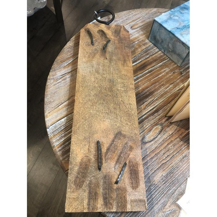 Mango Wood with Metal Hook Cheese Board