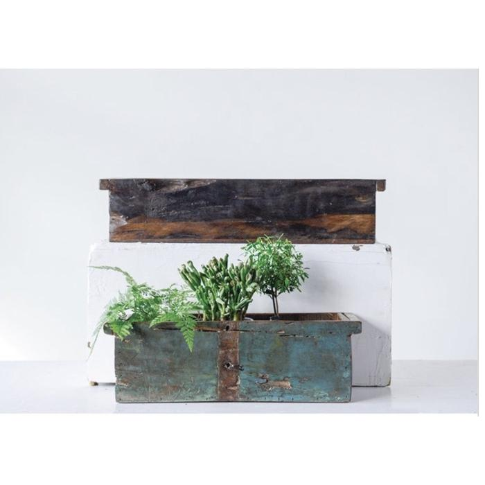 Set of Reclaimed Wood Boxes