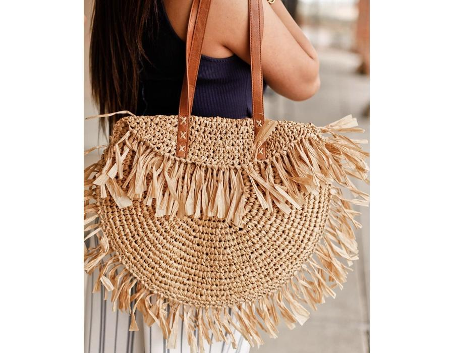 Straw Bag with Handle