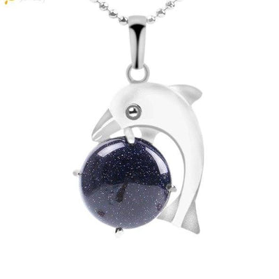 Help The Dolphins Birthstone Necklace - The Ocean Devotion