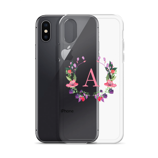 Floral Pink Initial
