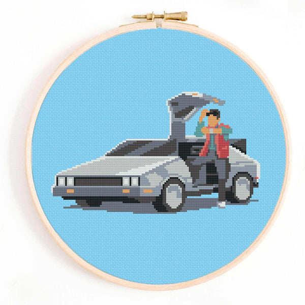 'We Don't Need Roads' Back to the Future Cross Stitch Pattern