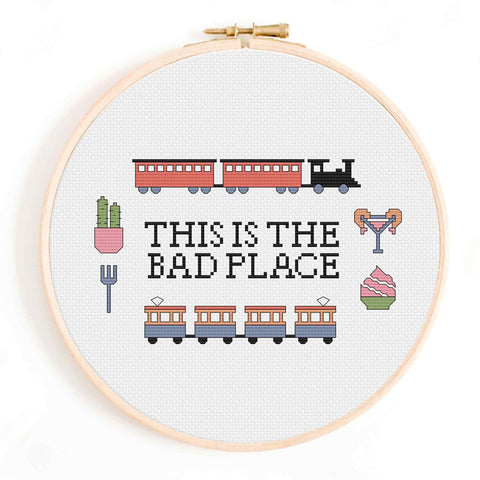 'This is the Bad Place' The Good Place Cross Stitch Pattern
