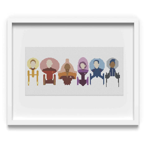 'The Captains (plus Michael Burnham!)' Cross-Stitch Pattern