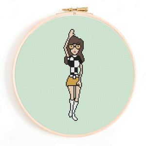 1960's Alter-Ego Daria Cross Stitch Pattern